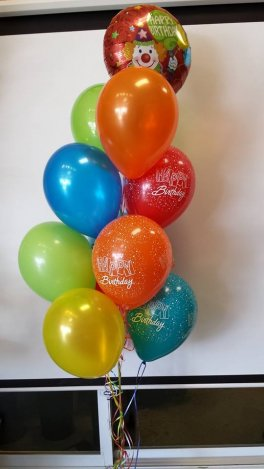 A balloon birthday bouquet