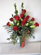 1 A red roses x12 deluxe
