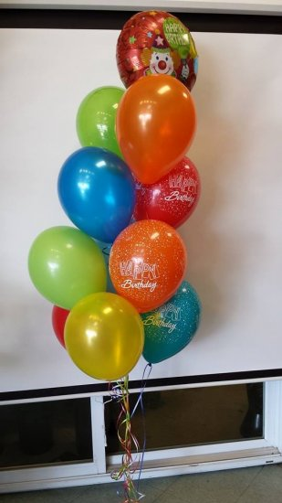 1 Balloon Bouquet Colourful Happy Birthday Click To Enlarge