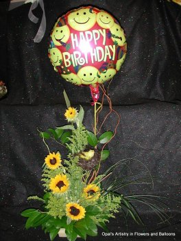 a Happy BIRDday Arrangement