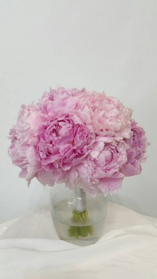 1 bridal bouquet with peonies - Click Image to Close