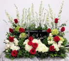 1 a Celebration of life red roses white