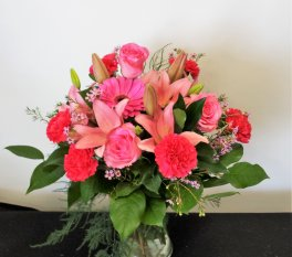 1 lilies pink pink roses
