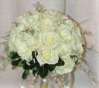 1 A bridal bouquet, white roses