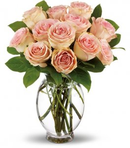 1 pink roses, FLOWERS arranged