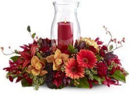 A Harvest Hurricane Candle Centerpiece
