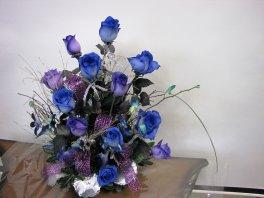 1 1 a Purple and Blue roses Collection