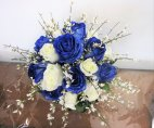 1 blue bridal bouquet