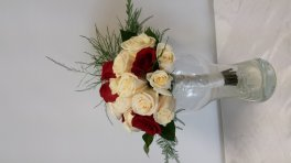 Red & White Roses Brides Bouquet