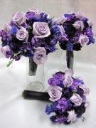 Pretty in Purple--Bridal Bouquet Sets