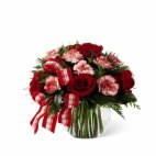 Christmas centrepiece Winter Elegance Red