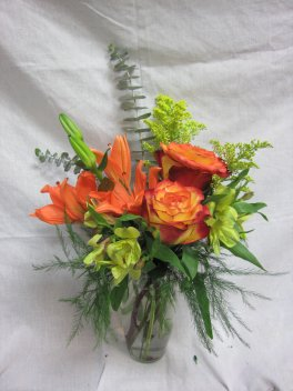 A Tiger Lily With Roses Friends