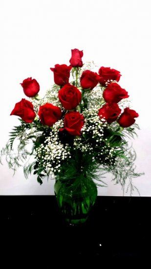 1 1 A Awesome Dozen Premium Red Roses - Click Image to Close
