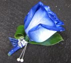 A Boutonniere Blue Rose