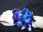 0 1 corsage wrist blue orchids bling with bling bracelet