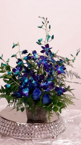 1 awesome zen day for you with blue orchids