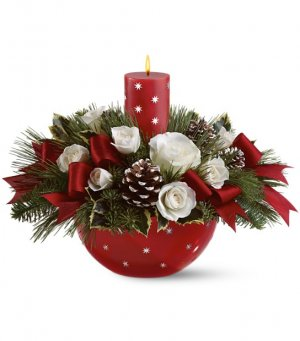 1 Holiday Star Bowl red white
