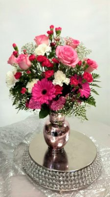 Flowers, pinks for you