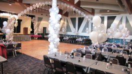 Balloon decorating, arches, pillars