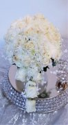 1 A bridal bouquet white cascade pearls