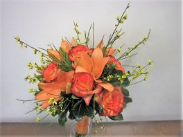 1 bride's bouquet orange