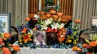 1 flowers funeral urn picture, fall tones