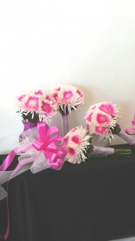 Fusia Fuji Mums - Bridal Bouquet Set