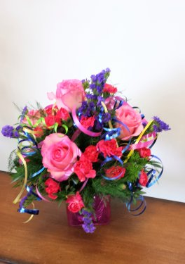 0 birthday flowers in pink purple