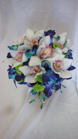 A bridal bouquet an orchid fancy