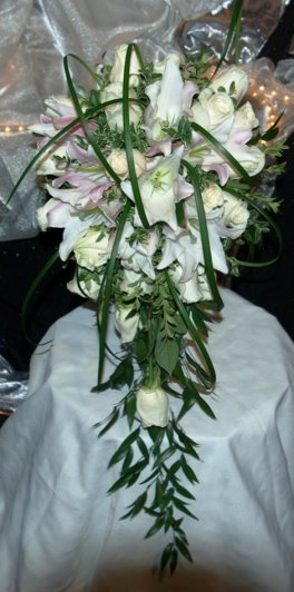 A Cascading Lily Bouquet