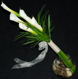 White Calla Lily Handwrapped