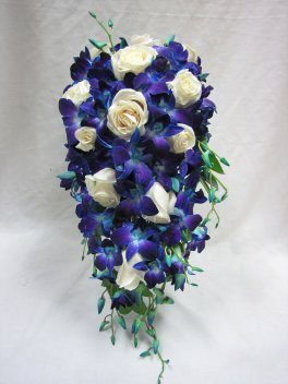 Darling Blue Cascading Bouquet