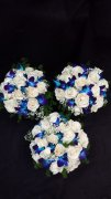 White Roses, Blue Orchids & Baby's Breath Set