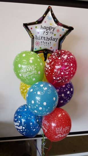1 Balloon Bouquet Birthday Tree