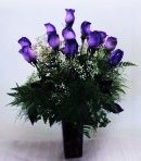 1 1 a Purple Roses bouquet